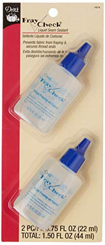 Dritz 1674 Fray Check Liquid Seam Sealant, 0.75-Fluid Ounce (2-Count)