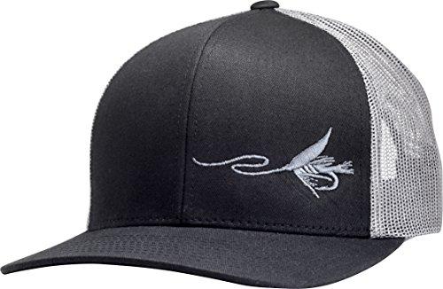 LINDO Trucker Hat - Fly Fishing (Black/Graphite)
