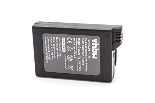 vhbw Akku kompatibel mit Sony Playstation Portable PSP-1000, PSP-1000K-CW, PSP-1001, PSP-1004, PSP-1006 Ersatz für PSP-110, PSP-280G (Li-Ion, 1600mAh, 3.6V)