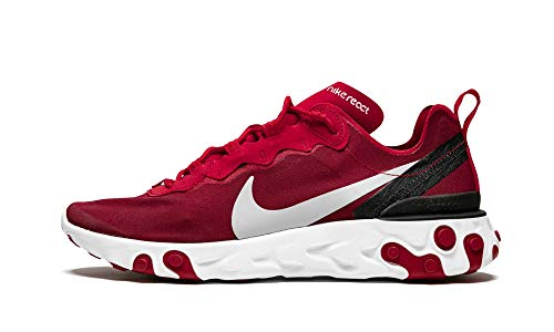 Nike Mens React Element 55 Gym Red/Wolf Grey/ Black Size 9