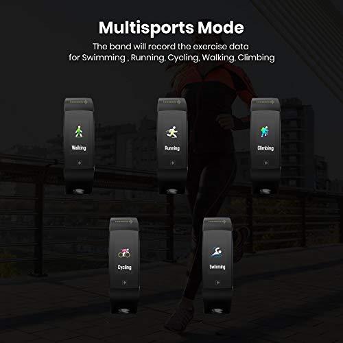 MevoFit Go + Swim Fitness Bands & Activity Tracker for Men & Women (Black)