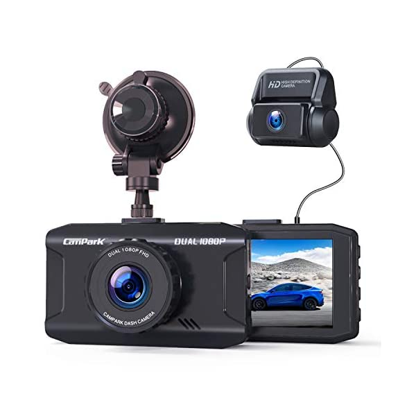 Campark Dash Cam Front and Rear Dual 1080P Car Camera with 340° Wide Angle Recording...