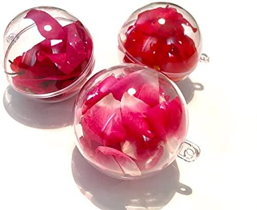 JUNMEIDO Juego de 30 bolas de acrílico de 4 cm de diámetro, transparentes, para colgar, transparentes, bolas decorativas, para manualidades