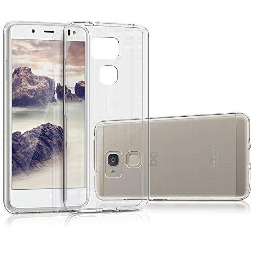 kwmobile Hülle kompatibel mit bq Aquaris V - Silikon Handyhülle transparent - Handy Hülle in Transparent