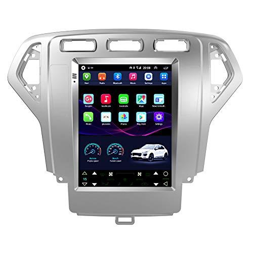 Kilcvt Estéreo De Navegación GPS para Automóvil, 9 Pulgadas/Android 10 para Ford Mondeo 07-10 Soporte De Pantalla Vertical Control del Volante/Pantalla HD/FM/Am/Bluetooth,WiFi 1g+16g