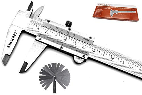 KHCRAFT Professional Caliper Vernier Caliper Stainless Steel Hardened Chromeplated Inch/Metric 0-6