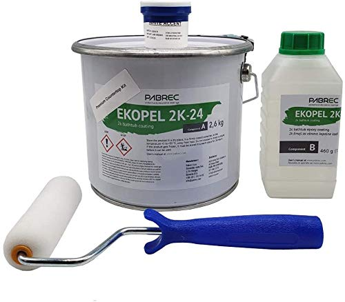 Refinished Bath Solutions – Ekopel 2K Premium Countertop Refinishing Kit | White | Look of Marble | DIY Project | Kitchen and Bathroom | Durable | Covers Any Surface | One Gallon Kit (White, 1 Gallon)