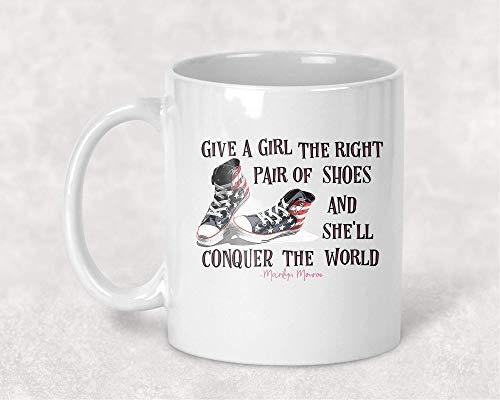 N\A Las Zapatillas le Dan a una Chica los Zapatos adecuados Taza de café Occidental Regalo para Ella