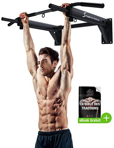 Sportstech Barre de Traction Fixation Murale KS300 Musculation Fitness 3 Anneaux pour TRX,...