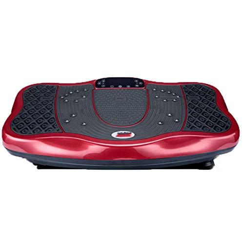 Topashe Plataforma Vibratoria Ultra Slim,Máquina de Adelgazamiento por vibración, máquina de agitación de pie-Vino Tinto,Vibratoria Máquina de Ejercicio
