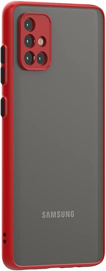 Case for Samsung Galaxy A51 Case 4G [Protect from Fingerprint/Shock/Scratch/Slip] Shockproof Hard PC Back with Soft TPU Bumper Slim Protective Phone Cover for Samsung Galaxy A51 4G (Red)