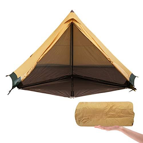 Tienda de campaña ultraligera para exteriores, 3F UL nueva pirámide LanShan 4-6 personas, tienda de campaña de doble capa impermeable para senderismo, senderismo, tiendas familiares