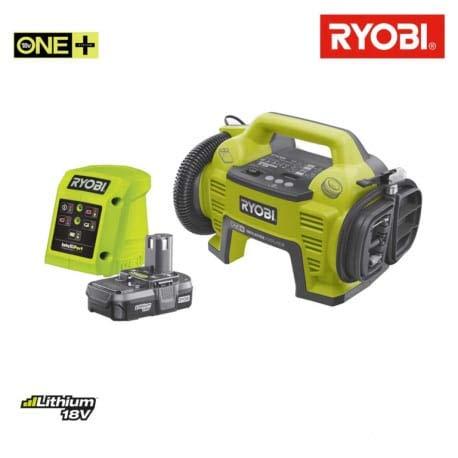 Pack compresor-inflador RYOBI 18V - 1 batería 18V 1.3 Ah - 1 ...