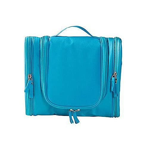 longsheng Bolsa de cosméticos de viaje portátil con orejas grandes para colgar doble y abierta, azul (lake blue), 24*10.5*25cm, Moda