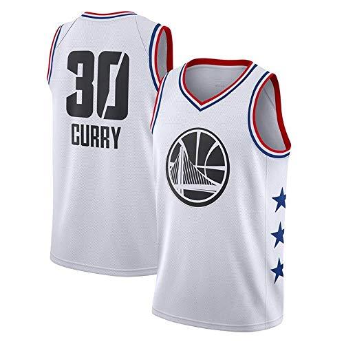 Zxwzzz Männer Jersey NBA Golden State Warriors No.30 Curry Jerseys Breath Gestickte Basketball Swingman Jersey (Color : White B, Size : Large)