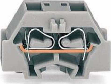 Wago 260-333 Gris bloque de terminales - Electrical terminal block (8 mm, 25 mm, 17 mm, 400 V)