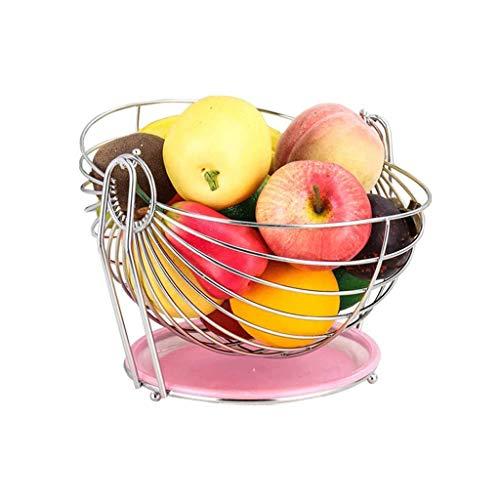 WYJBD Edelstahl Obstschale, Swinging Fruit Hammock Speicher-Korb mit herausnehmbaren Auffangschale Edelstahl Gemüse Drainage Korb Snack Tray