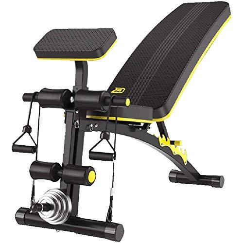 DSHUJC Tabouret d'haltère réglable, Équipement de Fitness Sit-up Multifonction avec Corde élastique, Assistant à la Maison de Muscle Abdominal, sans haltères