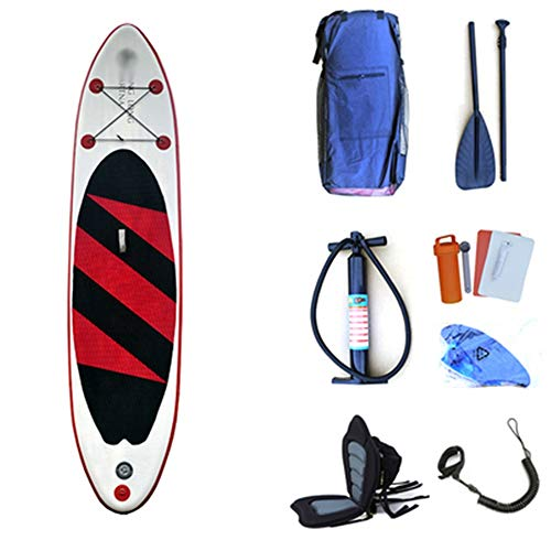PUEEPDEE-YDHW Inflatable Stand Up Paddle Board Lake Travel Inflatable Stand Up Paddle Board SUP with Storage Backpack, Leash,Paddle and Pump for Touring,Surfing,Water Yoga and Racing Surf Paddle