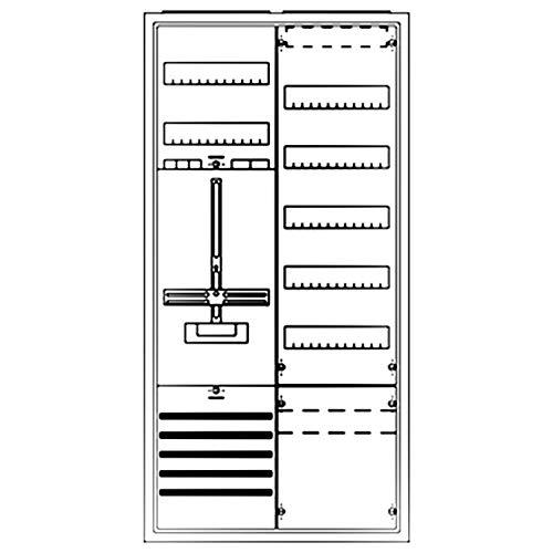 Striebel&John Schrank komplett KS243Z 2/3A 1Z1V7 A Zähler-Komplettschrank 4011617358824