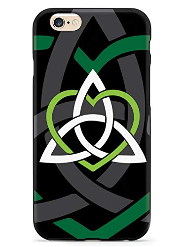 Inspired Cases - 3D Textured iPhone 6/6s Case - Rubber Bumper Cover - Protective Phone Case for Apple iPhone 6/6s - Celtic Sisters Knot - Green - Black