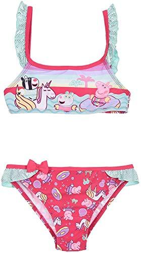 Peppa Pig Bikini mit Einhorn (Fuchsia, 3 Jahre)