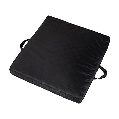 DMI Gel Foam Comfort Seat Cushion and Wheelchair Cushion, Waterproof Cover, Black