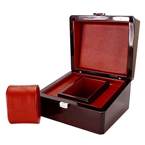 IPOTCH Vetrina Porta Orologi Legno Nero con Scatola Singola 17 X 15 X 10 Cm