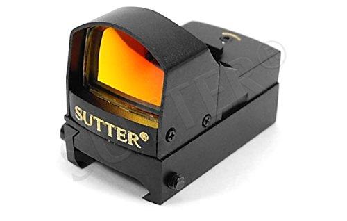SUTTER Red Dot Leuchtpunktvisier 1x22 / 19mm Schiene/Reflexvisier Rotpunkt Visier RedDot Zielvisier Zielfernrohr Zielgerät