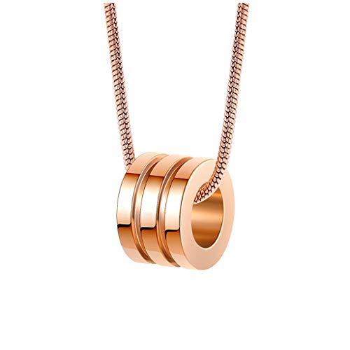 Joyas / Collares Pareja del anillo del collar de la personalidad creativa clavícula cadena tendencia de la moda de joyería hombres y mujeres de oro y plata (dos colores pueden ser seleccionados) Colga