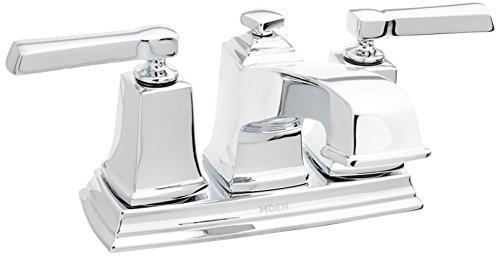 Moen WS84800 Boardwalk Two-Handle Low Arc Bathroom Faucet, Pack of 1, Chrome