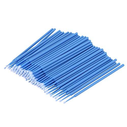 Vaorwne 100 Pieces Micro-Brosse Dentaire Materiaux Jetables Applicateurs de Dents Moyen Fine (Bleu Fonce)