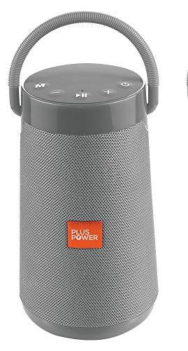 PLUS POWER Bocina Bluetooth Portatil MP3, USB, SD, AUX y Manos Libres 200 W (Gris)