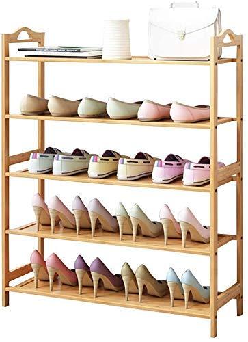 Shoe rack Schuhregal Schuhregal 5-Stufige Naturholzbank, Organizer Für Badezimmerregale, Holzregal Für Große Möbel (Farbe: 5 Stockwerke, Maße: 50 Cm),5 Tier,50Cm