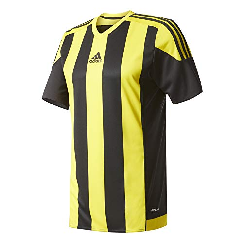 adidas T-Shirt Striped 15 für Herren, gestreift S schwarz / gelb