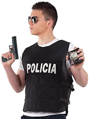 DISBACANAL Chaleco antibalas Disfraz - XL
