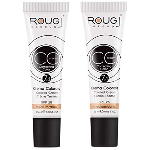 2x Rougj - CC Cream tonalità MEDIUM/DARK - 25 ml...