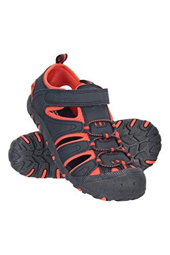 Mountain Warehouse Sandalias de Senderismo Coastal Niños - Sandalias de Neopreno Niños & Niñas, Zapatos de Verano, para la Playa, Caminar, fáciles de Poner Azul Oscuro 30.5