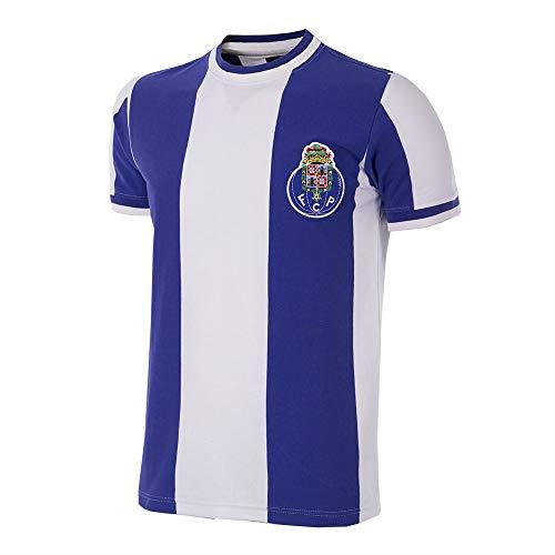 Copa FC Porto 1971-72 - Camiseta de Manga Corta para Hombre, diseño Retro de fútbol, Portuguese Football, FC Porto 1971 - Camiseta de fútbol Retro, Hombre, Color Blanc y Azul, tamaño L