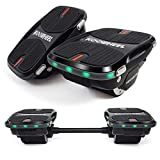 YDS Update Hoverboard Self Balancing Scooter with LED Lights Electric Scooter for Adult Kids Gift UL 2272 Certified (with Connecting Rod)