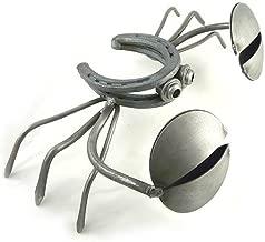 Yardbirds Horseshoe Crab - American Made Recycled Metal Garden Sculpture, 13