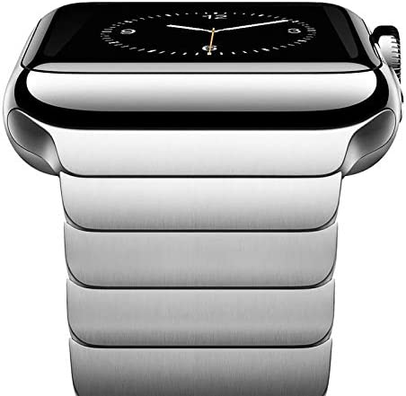 NewWays Metal Band Compatible with Apple Watch Band 42mm 44mm Series 3 4 5 6 Stainless Steel product image