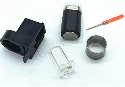 Eje giratorio bisagra eje eje eje flip open pantalla eje y poste de lámpara destornillador de barril de metal para Nintendo 3DS XL 3DS LL reemplazo