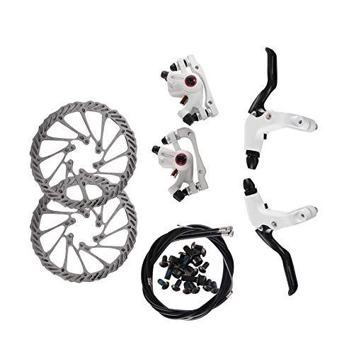 BALLSHOP Fahrrad Scheibenbremse Bremsen Set Bowdenzug System Scheibe vorne&hinten Bremsscheibe