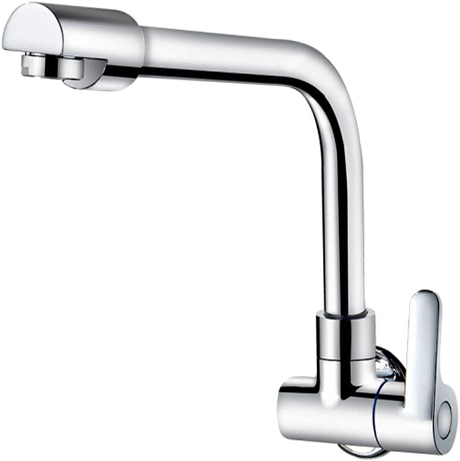 Counter Drinking Designer Archcopper Main Body 360 Degree redary Wall Type Single Cooling Kitchen Faucet