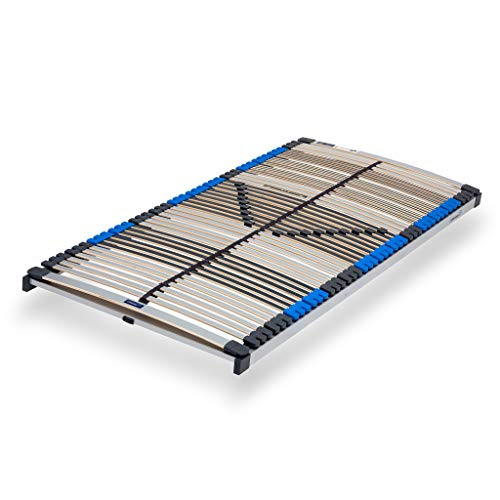7-Zonen Lattenrost Pure NV mit 44 Federleisten 90x200cm | nicht verstellbar - starr | fertig montiert | Härteregulierung | Made In Germany | GS Zertifiziert – geprüfte Sicherheit (90 x 200 cm)