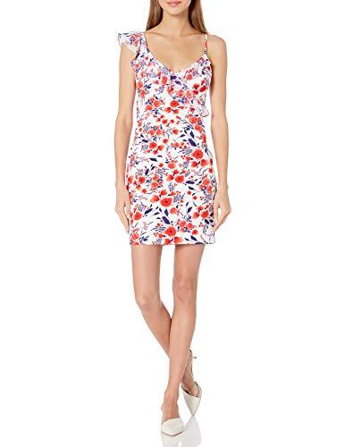 Guess vestido de gasa con estampado floral para mujer