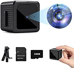 Spy Camera HD 1080P Mini Hidden Camera with Motion Detection and Night Vision Home Security Camera Nanny Cam with 32 GB Micro SD Card Small Hidden Spy Cam for Home Indoor Outdoor