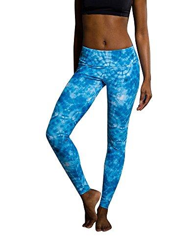 Onzie Yoga Leggings 209 Tie Dye Blue (Tie Dye Blue, Medium/Large)
