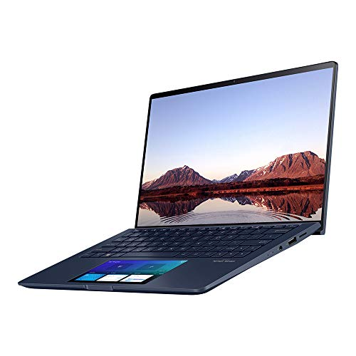ASUS ZenBook UX534FAC 15.6 Inch Ultra HD (4K) Laptop (Intel i7-10510U, 16 GB RAM, 512 GB SSD, 32 GB Intel Optane Memory, Full HD ScreenPad, Backlit Keyboard, Windows 10), Blue